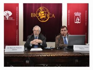 Con el doctor Marcelo Palacios, en la Sociedad Internacional de Bioética.
